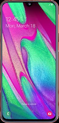 Galaxy A40: Pink