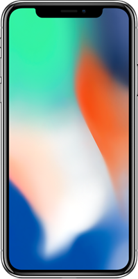 iPhone X: Silver